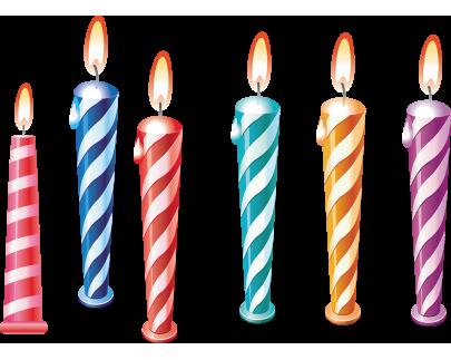 Теперь в наличии праздничные свечи